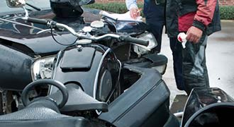 Accident between motorcycle and auto in Cranston RI and the rider needing a Cranston motorcycle accident attorney