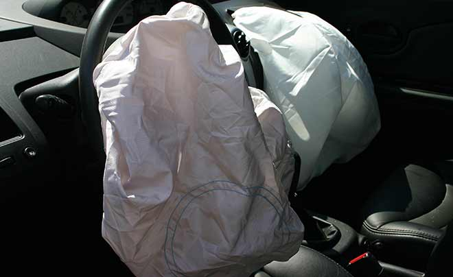 Defective Takata Airbags after a car accident