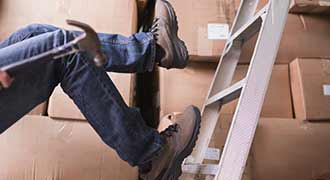 man falling off ladder and after suffering an injury he should seek vocational rehabilitation