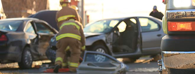 Auto crash between two cars during August the most dangerous month to drive