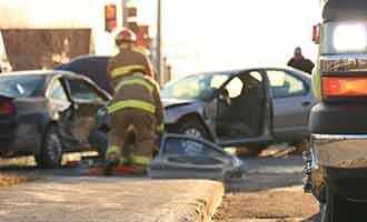 auto accident between two cars